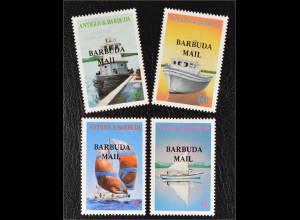 Barbuda Antigua und Barbuda 1987 Michel Nr. 929-32 Jachten Boote Segelschiffe