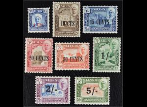 Aden Kathiri State of Seiyun 1951 Michel Nr. 20-27 Freimarken Landesansichten