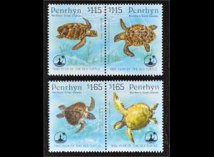 Penrhyn Cook Island 1995 Michel Nr. 579-82 ZD Schutz der Seeschildkröten