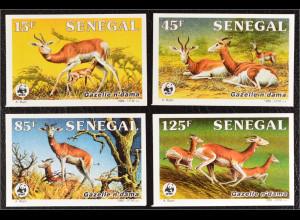 Senegal 1986 Michel Nr. 875-78 U WWF Weltweiter Naturschutz Damagazelle