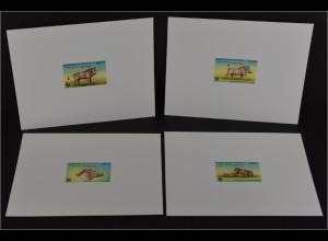 Dschibuti 2000 Michel Nr. 678-81 De Luxe Blocks WWF Eritrea Warzenschwein