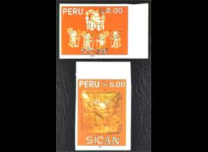 Peru 1993 Michel Nr. 1481-82 selbstklebend Archäologische Funde der Sican Kultur