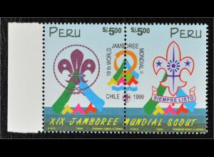 Peru 1999 Michel Nr. 1660-61 ZD Weltpadfindertreffen in Chile Pfadfinder