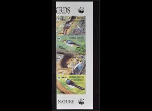 Sierra Leone 1994 Michel Nr. 2171-74 ZD U WWF Weltweiter Naturschutz Felshüpfer