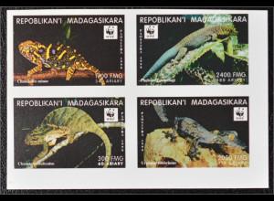 Madagaskar 1999 Michel Nr. 2317 U WWF Weltweiter Naturschutz Chamäleon Gecko
