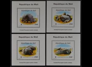 Mali 1998 Block A 118-D 118 WWF Weltweiter Naturschutz Stachelschwein