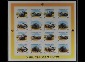 Mali 1998 Michel Nr 1974-77 I B Klbg WWF Weltweiter Naturschutz Stachelschwein