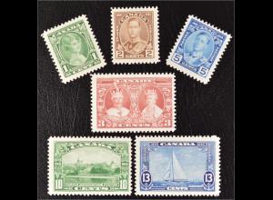 Kanada Canada 1935 Michel Nr. 178-83 25. Thronjubiläum von König Georg V
