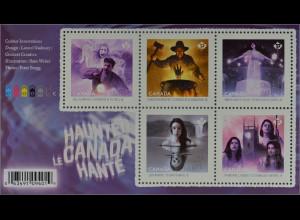 Kanada Canada 2016 Block 239 Geister Kanada´s Halloween Grusel Lady in White