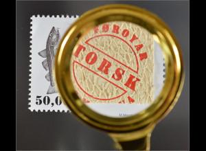 Dänemark Färöer 2016 Nr. 863 Fischleder Kabeljau Gadus morhua Marke Fischhaut