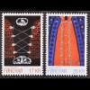Dänemark Färöer 2016 Michel Nr. 864-65 Volkstrachten Frauentracht Strickjacke