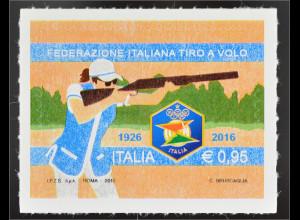 Italien Italy 2016 Michel Nr. 3925 Nationaler Verband der Wurfscheibenschützen