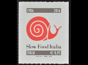 Italien Italy 2016 Michel Nr. 3927 Spitzenprodukte 30 Jahre Slow-Food-Bewegung