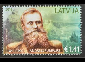 Lettland Latvia 2016 Nr. 992 Andrejs Pumpurs lettischer Dichter Lyrik Prosa