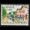 Lettland Latvia 2016 Michel Nr. 990 Bahnhöfe Krustpils Eisenbahn Verkehr Bahn