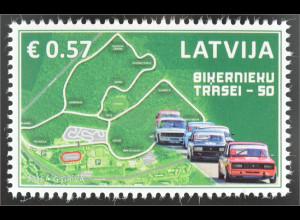 Lettland Latvia 2016 Michel Nr. 989 50 Jahre Autorennstrecke Biķernieku Riga