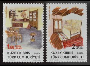 Zypern türkisch Cyprus Turkish 2016 Nr. 831-32 Ethnografische Objekte