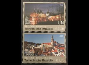 Verei. Nationen UNO Wien 2016 Nr. 925-26 UNESCO Welterbe Tschechische Republik