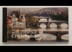 Ver. Nationen UN UNO New York 2016 MH 19 UNESCO Welterbe Tschechische Republik