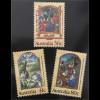 Australien 1989 Michel Nr. 1177-79 Weihnachten Illustrationen aus Stundenbüchern