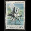 Australien Briefmarken Wasservögel Trauerschwan Schwarzhalsstorch Hühnergans