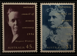 Australien 100 Jahre Nationaler Frauenrat Margaret Windeyer Rose Scott