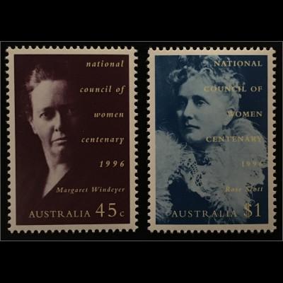 Australien 100 Jahre Nationaler Frauenrat Margaret Windeyer Rose Scott