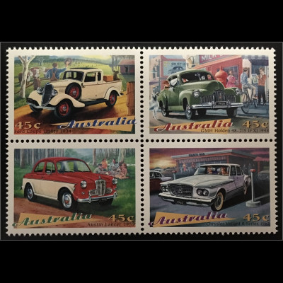 Australien Ford Coupé Utility GMH Holden Austin Lancer Chrysler Valiant R Series