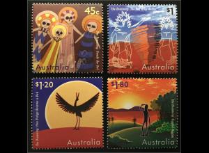 Australien Mythen Ureinwohner Dumbi Wie Brolga ein Vogel wurde Tuggan Tuggan