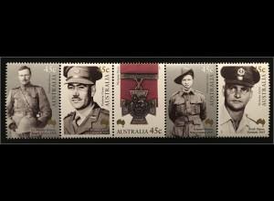 Australien 2000 Michel Nr. 1946-50 100 Jahre australische Viktoriakreuzträger