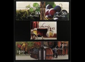 Australien 2005 Michel Nr. 2472-76 Weinbau Weingarten Rebe Weinlese Weinkeller
