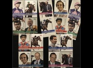 Australien 2007 Michel Nr. 2755-72 Australian Legends Jockey