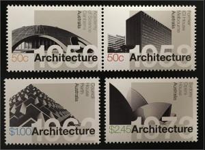 Australien 2007 Michel Nr. 2858-61 Moderne Architektur Opernhaus Sydney 1973