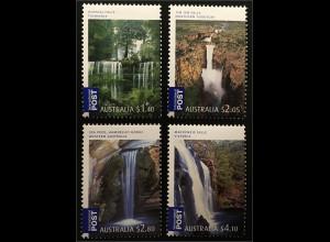 Australien 2008 Mi.Nr. 3077-80 Wasserfälle Russell Falls Tasmanien Jim Jim Falls