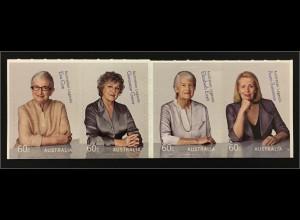 Australien 2011 Michel Nr. 3514-17 Australian Legends Feministinnen Eva Cox 1938