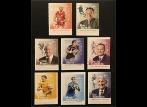 Australien 2012 Michel Nr. 3676-83 Australian Legends Fußball- und Rugbyspieler