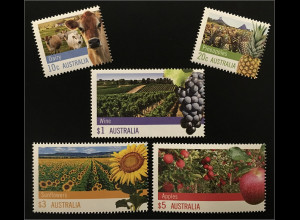 Australien 2012 Michel Nr. 3712-16 Landwirtschaft Milchkühe Ananasplantage