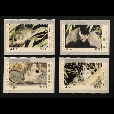 Australien 2012 Michel Nr. ATM 27-32 Gefährdete Tiere Angabe Automatenkennung