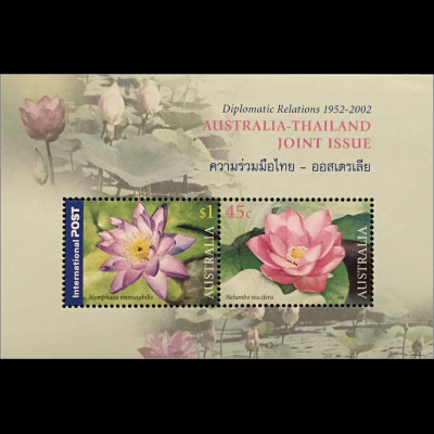 Australien 2002 Michel Nr. Block 46 diplomatische Beziehungen mit Thailand