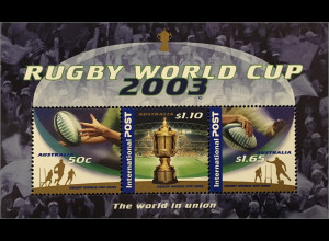 Australien 2003 Michel Nr. Block 51 Rugby Weltmeisterschaft