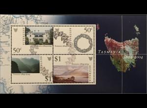 Australien 2004 Michel Nr. Block 52 200 Jahre Stadt Hobart Tasmanien