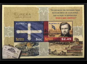 Australien 2004 Michel Nr. Block 53 Jahrestag der Erstürmung Eureka Stockade