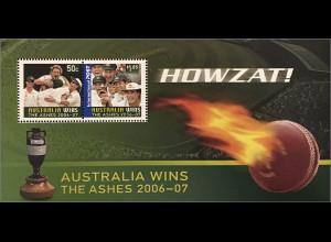 Australien 2007 Michel Block 67 Gewinn der Kricket Test Matches gegen England