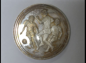 Fußball Medaille in Silber Weltmeisterschaft 1974