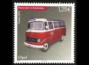 Andorra französisch 2016 Michel Nr. 806 Automobile Clipol Mercedes 319 Linienbus