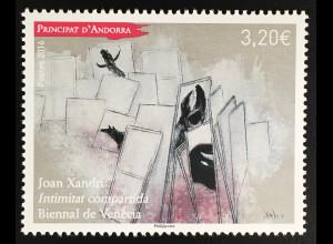Andorra französisch 2016 Michel Nr. 807 Internationale Kunstbiennale Venedig