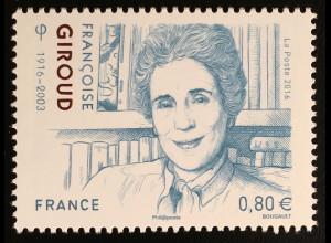 Frankreich France 2016 Nr. 6526 100. Geburtstag von Françoise Giroud Politikerin