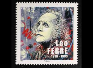 Frankreich France 2016 Michel Nr. 6525 100. Geburtstag von Léo Ferré Komponist