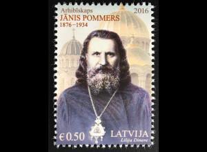 Lettland Latvia 2016 Nr. 994 Janis Pommers berühmte Persönlichkeiten Lettlands