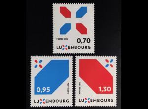 Luxemburg 2016 Michel Nr. 2104-06 Neue Signatur Luxemburgs X-Symbol